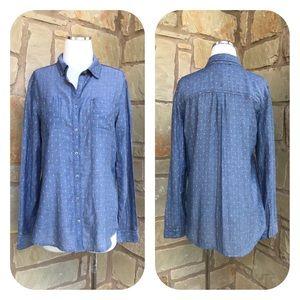 Caslon Button-Front Long Sleeve Classic Fit Shirt